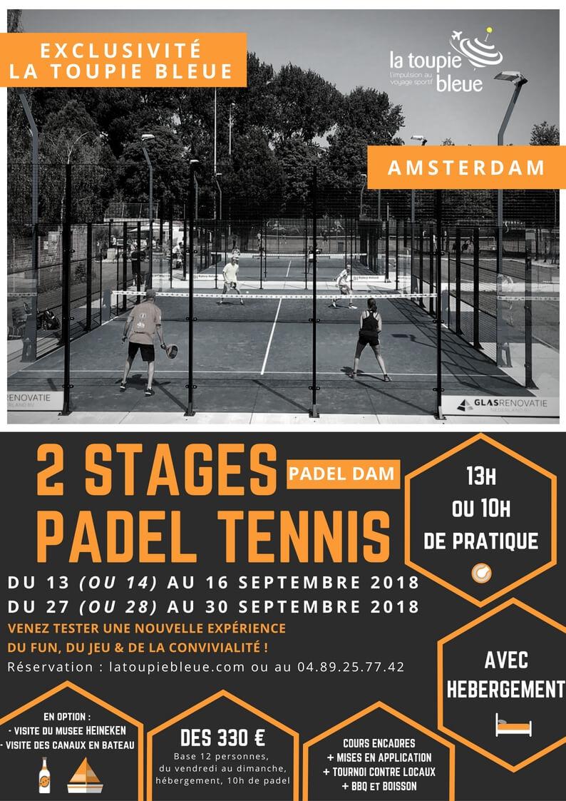 La Toupie Bleue joue au PADEL à AMSTERDAM !